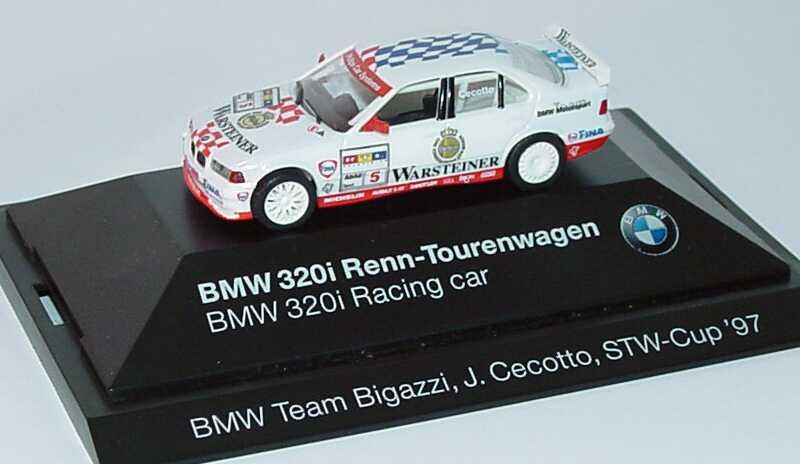 Foto 1:87 BMW 320i (E36) STW 1997 BMW, Warsteiner Nr.5, Cecotto Werbemodell  herpa