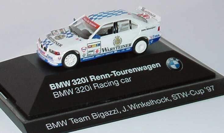 Foto 1:87 BMW 320i (E36) STW 1997 Bigazzi, Warsteiner Nr.6, Winkelhock Werbemodell herpa