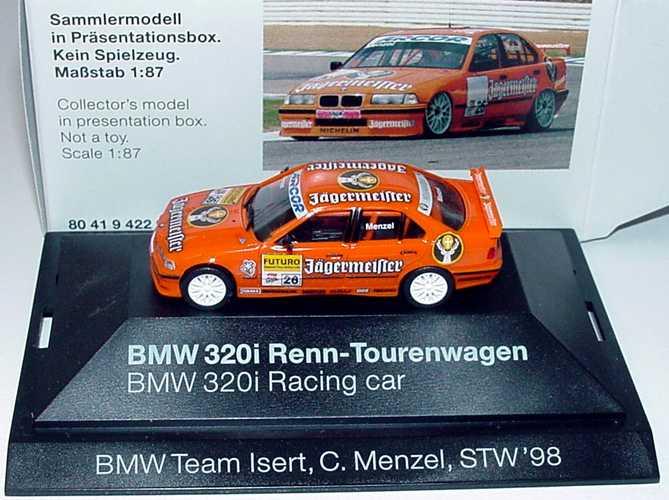 Foto 1:87 BMW 320i (E36) STW 1998 Isert, Jägermeister Nr.26, Menzel Werbemodell herpa 80419422933