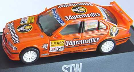 Foto 1:87 BMW 320i (E36) STW 1998 Jägermeister Nr.25, v.Bayern herpa 037679