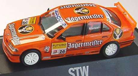 Foto 1:87 BMW 320i (E36) STW 1998 Jägermeister Nr.26, Menzel herpa 037686