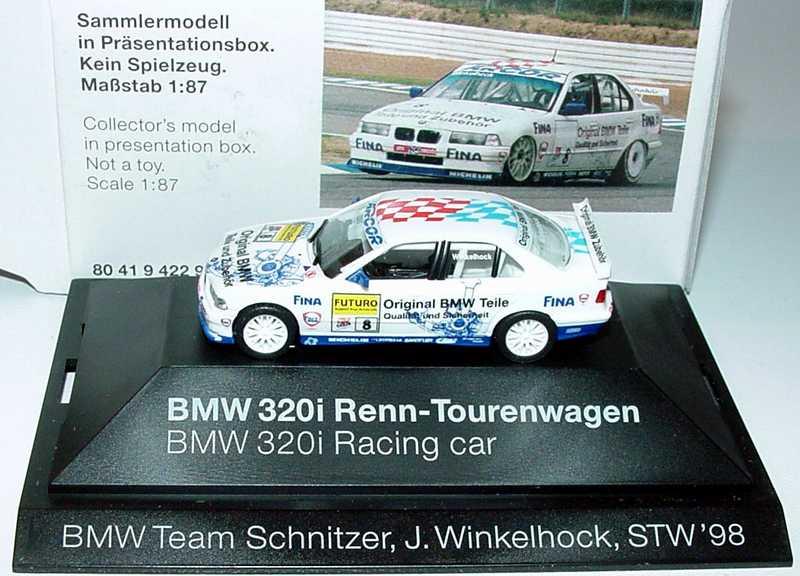 Foto 1:87 BMW 320i (E36) STW 1998 Schnitzer, Original BMW ... Nr.8, Winkelhock Werbemodell herpa 80419422931