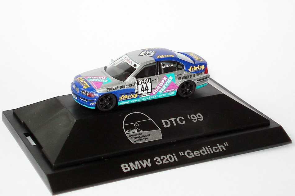 Foto 1:87 BMW 320i (E46) DTC ´99 Europa Service, Sebring Nr.44, Gedlich herpa 037822