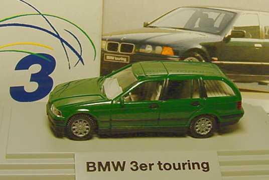 Foto 1:87 BMW 320i touring grün Werbemodell Wiking 80419419971