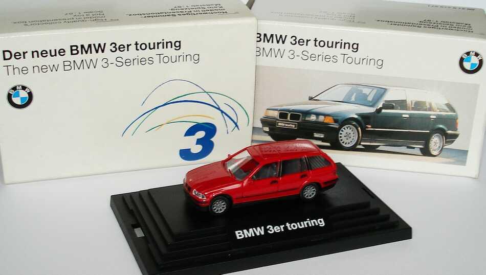 Foto 1:87 BMW 320i touring rot Werbemodell Wiking 80419419971