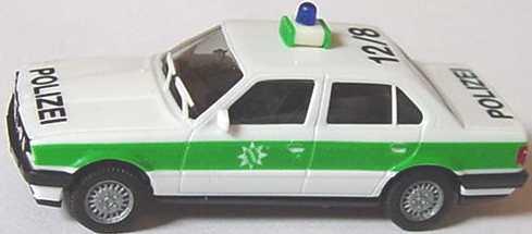 Foto 1:87 BMW 325i 4türig (E30) Polizei bayrisch 12/8 (eine Warnleuchte) herpa 4116