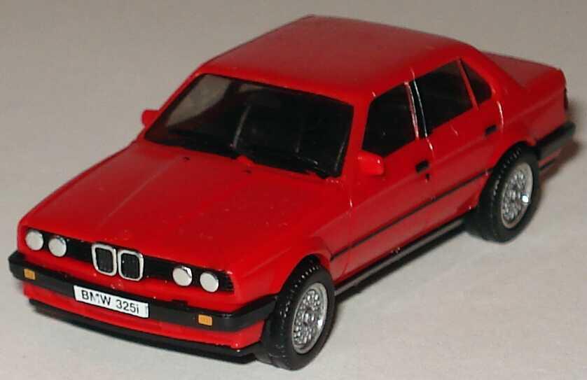 Foto 1:87 BMW 325i 4türig (E30) rot, mit BBS-Felgen herpa