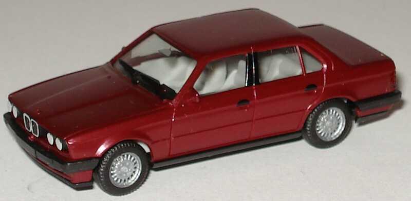 Foto 1:87 BMW 325i 4türig (E30) weinrot-met. herpa 3078