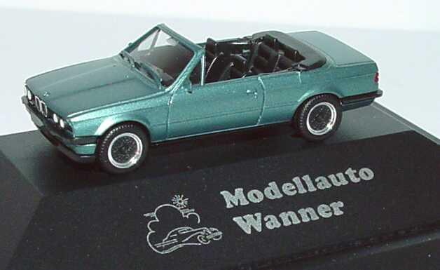 Foto 1:87 BMW 325i Cabrio (E30) beryll-met. Mit BBS-Felgen Modellauto Wanner herpa