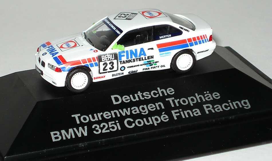 Foto 1:87 BMW 325i Coupé E36 DTT 1993 Vogelsang Fina Tankstellen Nr.23 Mario Merten - herpa