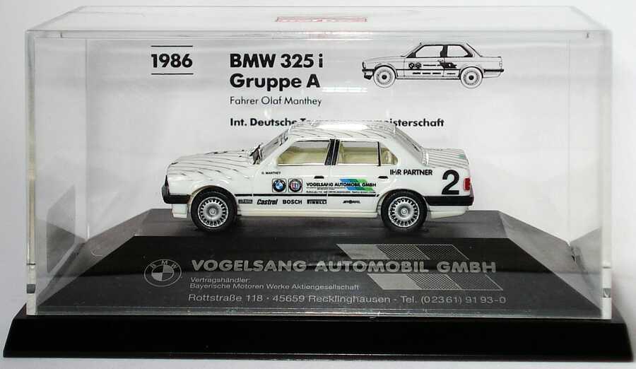 Foto 1:87 BMW 325i (E30) DTM 1986 Vogelsang Nr.2, Olaf Manthey herpa