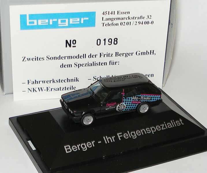 Foto 1:87 BMW 325i (E30) touring Berger - Ihr Felgenspezialist herpa