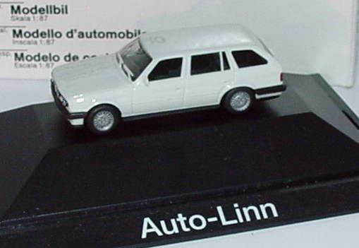 Foto 1:87 BMW 325i (E30) touring weiß Auto-Linn Werbemodell herpa