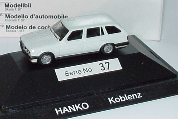 Foto 1:87 BMW 325i (E30) touring weiß Hanko Koblenz Werbemodell herpa