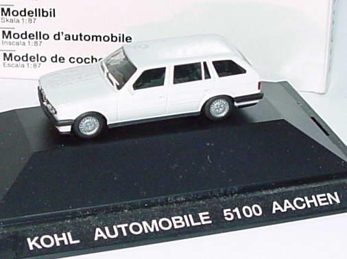 Foto 1:87 BMW 325i (E30) touring weiß Kohl Automobile Aachen Werbemodell herpa