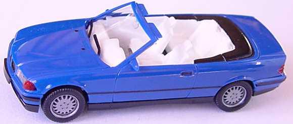 Foto 1:87 BMW 325i (E36) Cabrio blau herpa 021388