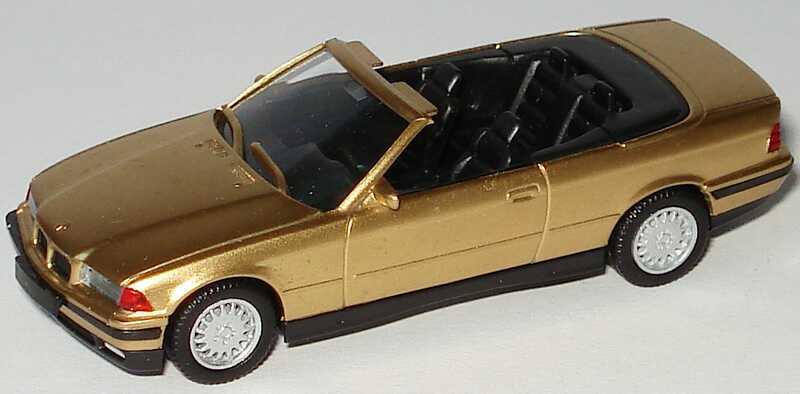 Foto 1:87 BMW 325i (E36) Cabrio gold-met. herpa 031387