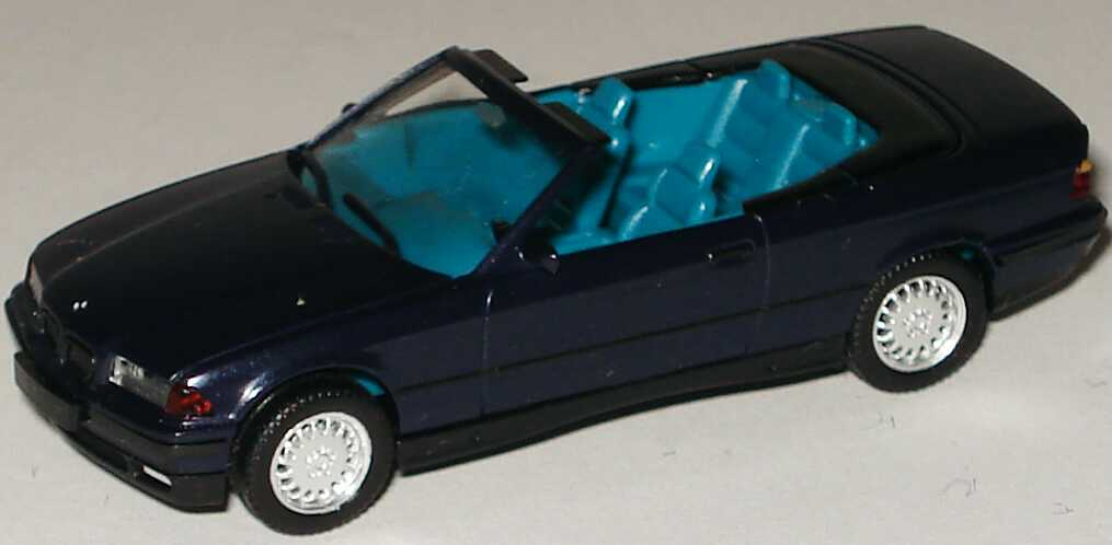Foto 1:87 BMW 325i (E36) Cabrio mauritiusblau-met. herpa