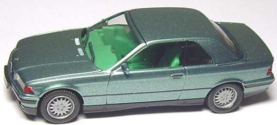 Foto 1:87 BMW 325i (E36) Cabrio mit Hardtop berylblau-met. herpa 032070