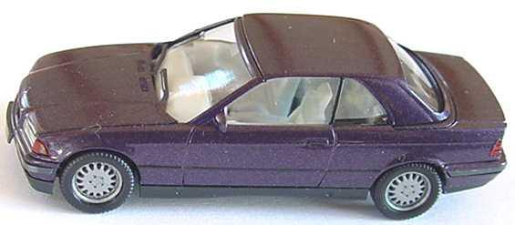 Foto 1:87 BMW 325i (E36) Cabrio mit Hardtop dunkelviolett-met. herpa 032070