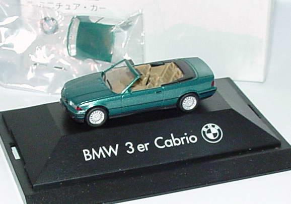 Foto 1:87 BMW 325i (E36) Cabrio mit Hardtop grün-met. Werbemodell herpa 80419419968