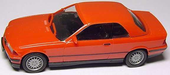 Foto 1:87 BMW 325i (E36) Cabrio mit Hardtop rot herpa 022071