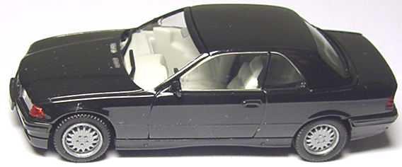 Foto 1:87 BMW 325i (E36) Cabrio mit Hardtop schwarz herpa 022071