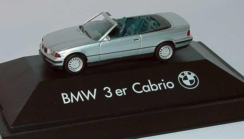 Foto 1:87 BMW 325i (E36) Cabrio silber-met. Werbemodell herpa 82229417824/80410419697