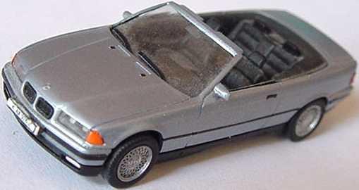 Foto 1:87 BMW 325i (E36) Cabrio sterlingsilber-met. (oV, gesupert) herpa 031387
