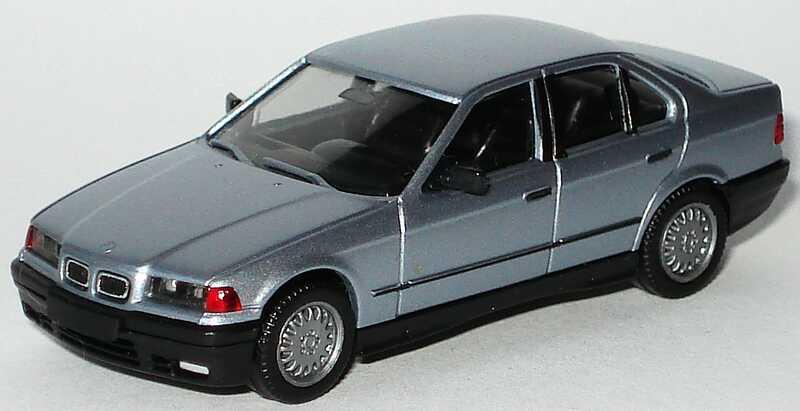 Foto 1:87 BMW 325i (E36) blausilber-met. (mit Chromniere) herpa 3089