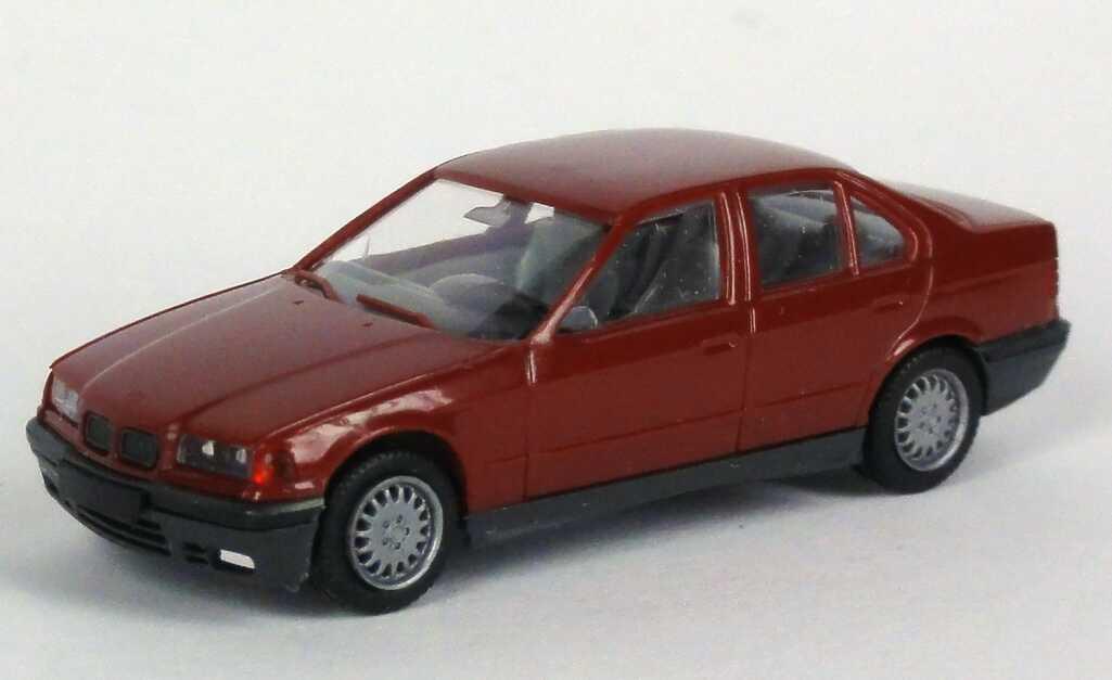 Foto 1:87 BMW 325i (E36) bordeauxrot herpa 021036