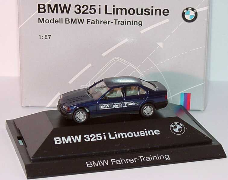 Foto 1:87 BMW 325i (E36) mauritiusblau-met. BMW Fahrer-Training Werbemodell herpa 80419420618