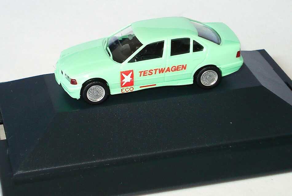 Foto 1:87 BMW 325i (E36) mintgrün Stern Testwagen herpa