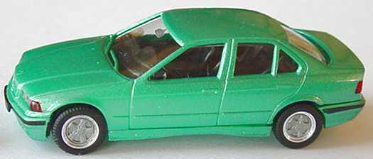 Foto 1:87 BMW 325i (E36) mintgrün-met. mit Alufelgen herpa