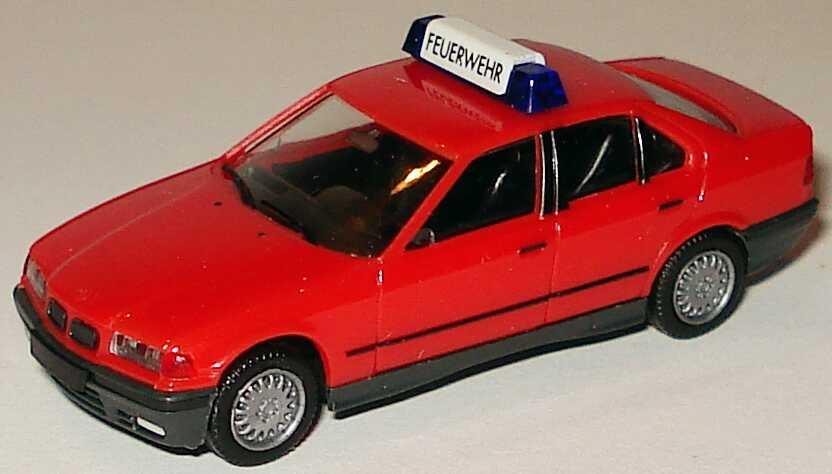 Foto 1:87 BMW 325i (E36) rot  Feuerwehr herpa 042154