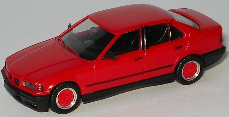 Foto 1:87 BMW 325i (E36) rot, mit BBS-Felgen herpa 020892