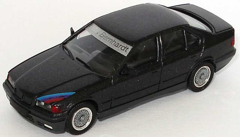 Foto 1:87 BMW 325i (E36) schwarz-met. 25 Jahre Autohaus Bernhardt (ohne PC-Box) herpa
