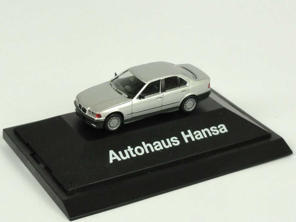 Foto 1:87 BMW 3er 325i E36 silber-met. Autohaus Hansa - Werbemodell - herpa