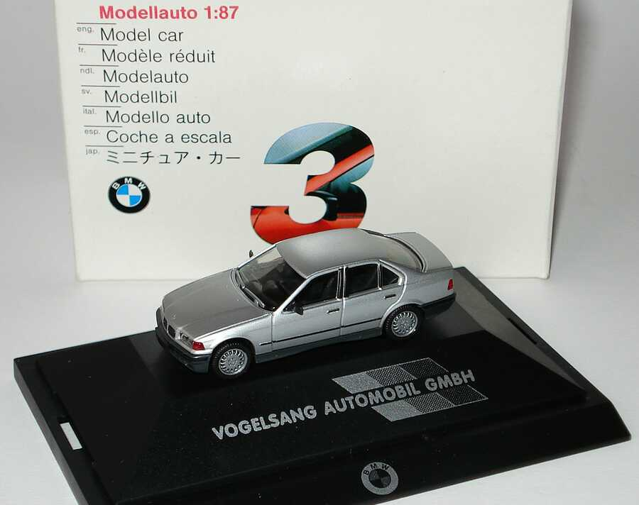 Foto 1:87 BMW 325i (E36) silber-met. Vogelsang Automobil GmbH (Niere ohne Chrom) Werbemodell herpa