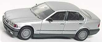 Foto 1:87 BMW 325i (E36) silber-met. (mit Chromniere) herpa 3089