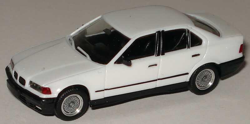 Foto 1:87 BMW 325i (E36) weiß mit BBS-Felgen herpa