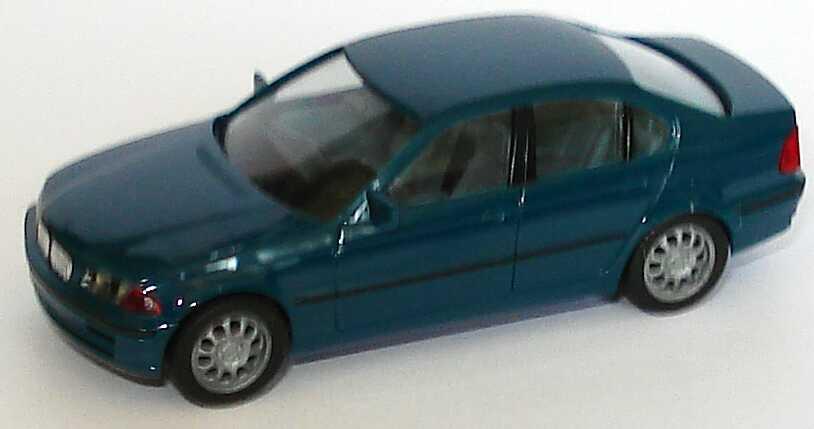 Foto 1:87 BMW 328i (E46) petrolblau herpa 022545