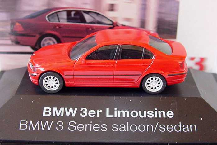 Foto 1:87 BMW 3er (E46) rot Werbemodell herpa 80419422484