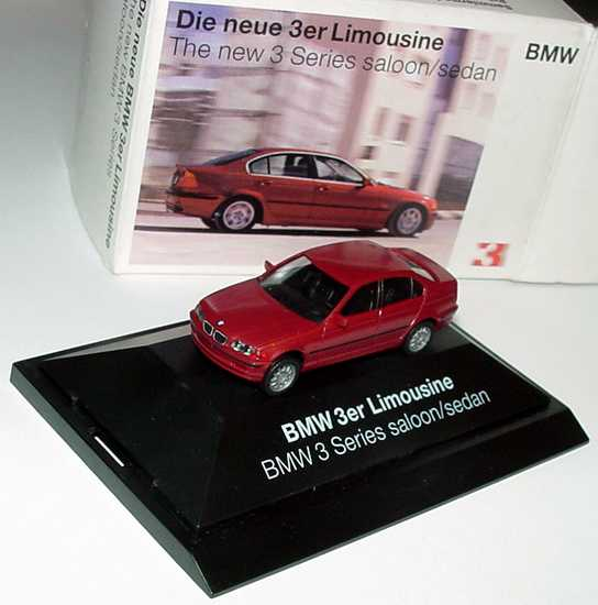 Foto 1:87 BMW 3er (E46) rot-met. Werbemodell herpa 80419421537