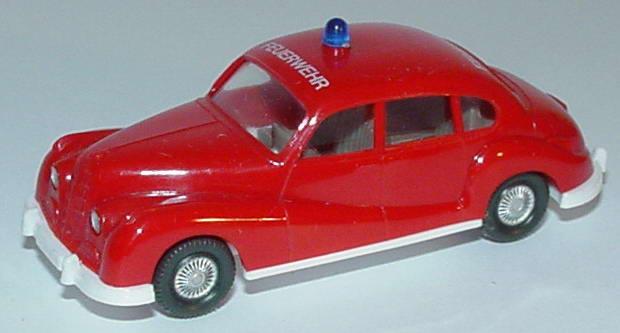 Foto 1:87 BMW 501 Feuerwehr rot (mit Dachdruck) Wiking