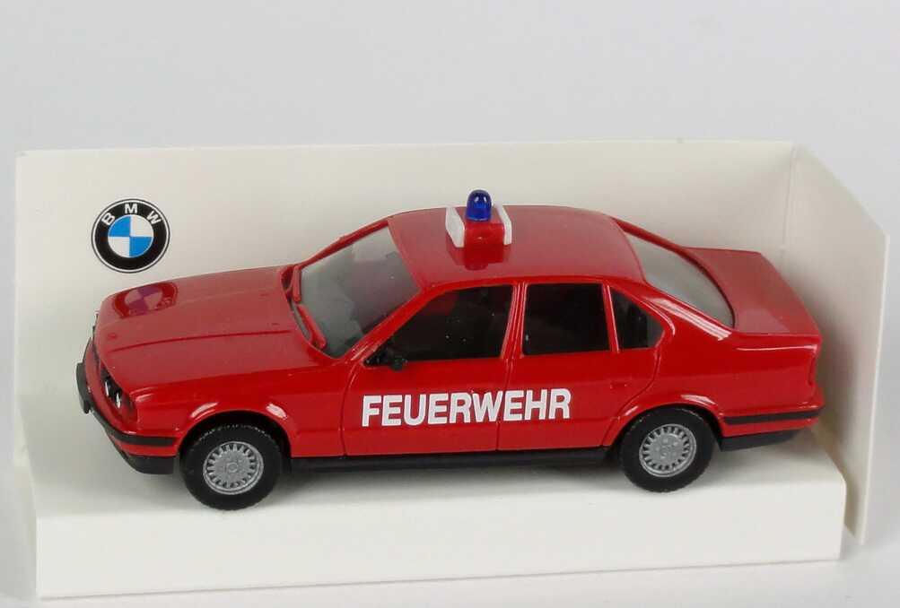 Foto 1:87 BMW 525i (E34) Feuerwehr rot Werbemodell herpa 82229417373