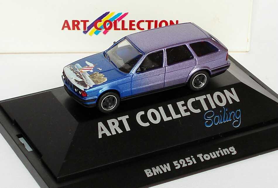 Foto 1:87 BMW 525i touring mit Borbet-Felgen Sailing (Art Collection) herpa 045063