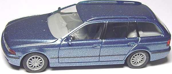 Foto 1:87 BMW 528i touring (E39) stahlblau-met. herpa