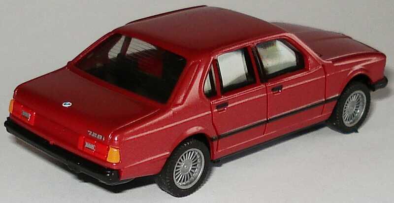 Foto 1:87 BMW 728i (E23) rot-met. (ohne PC-Box) herpa 100762