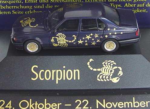 Foto 1:87 BMW 7er 735i E32 Sternzeichen Scorpion - Astro Collection - herpa 100854